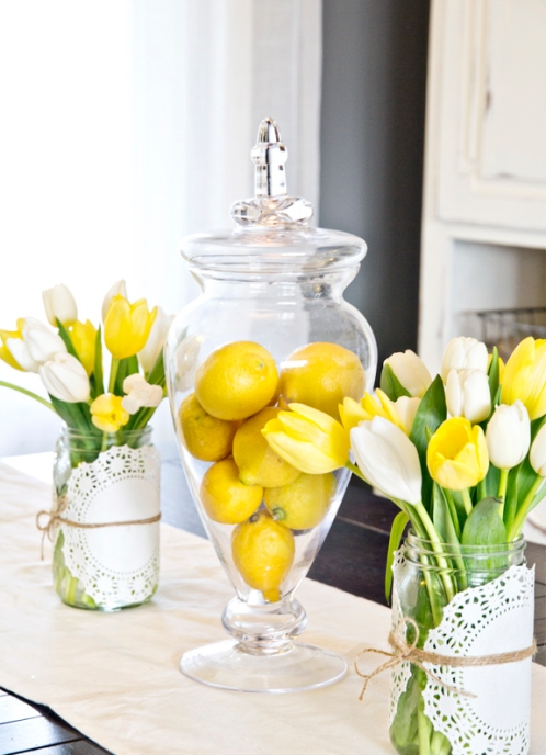 easy spring centerpiece idea